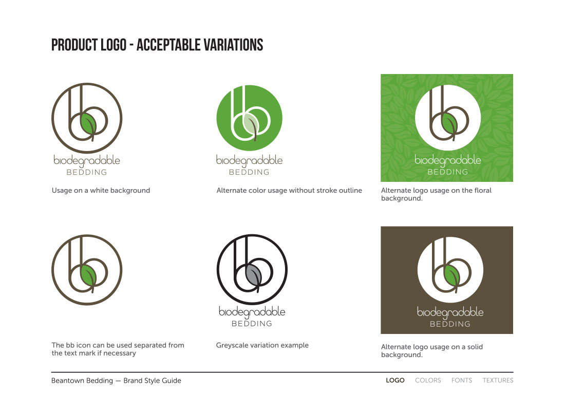 Sub-brand uses from the style guide