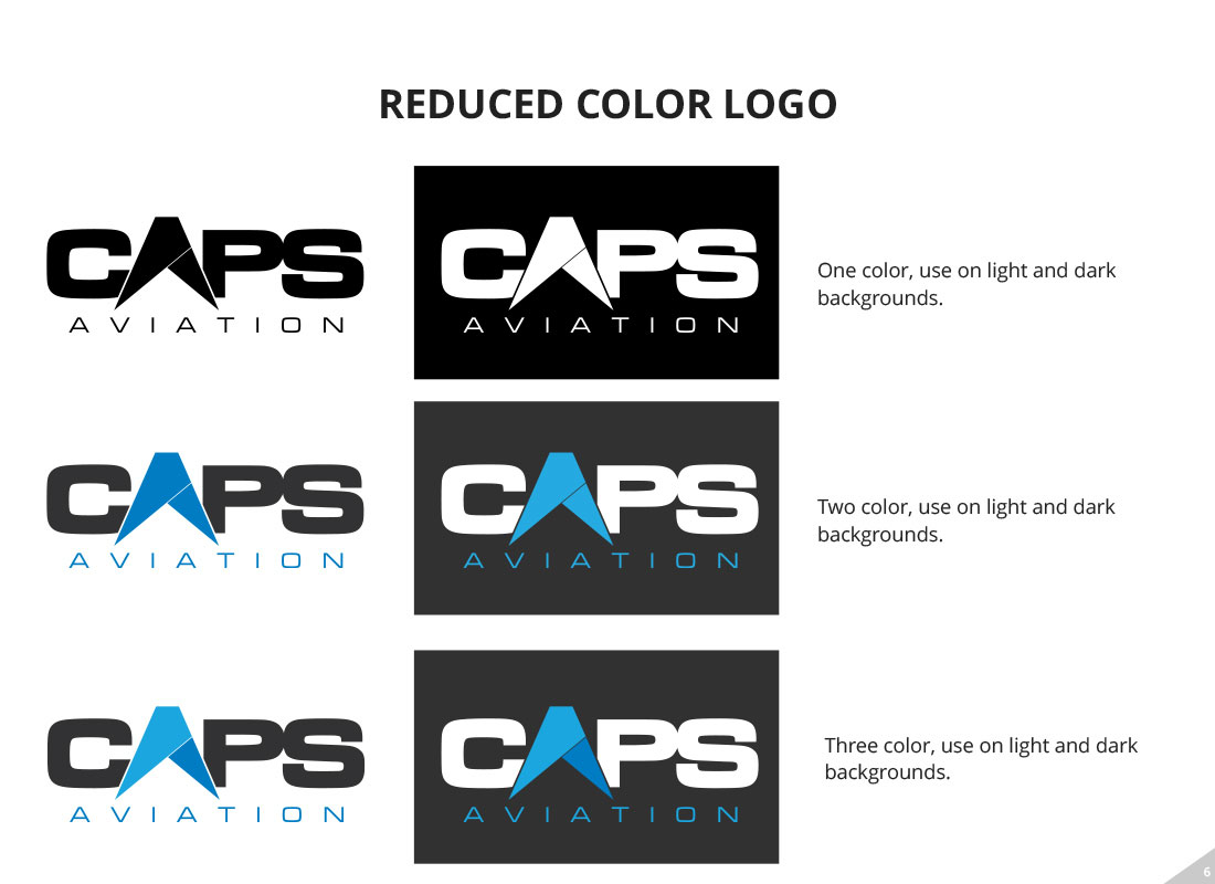 CAPS reduced logo variations from the style guide