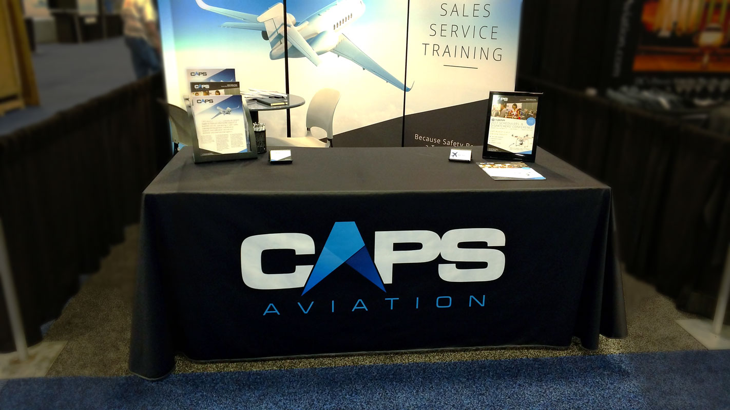 CAPS tradeshow booth