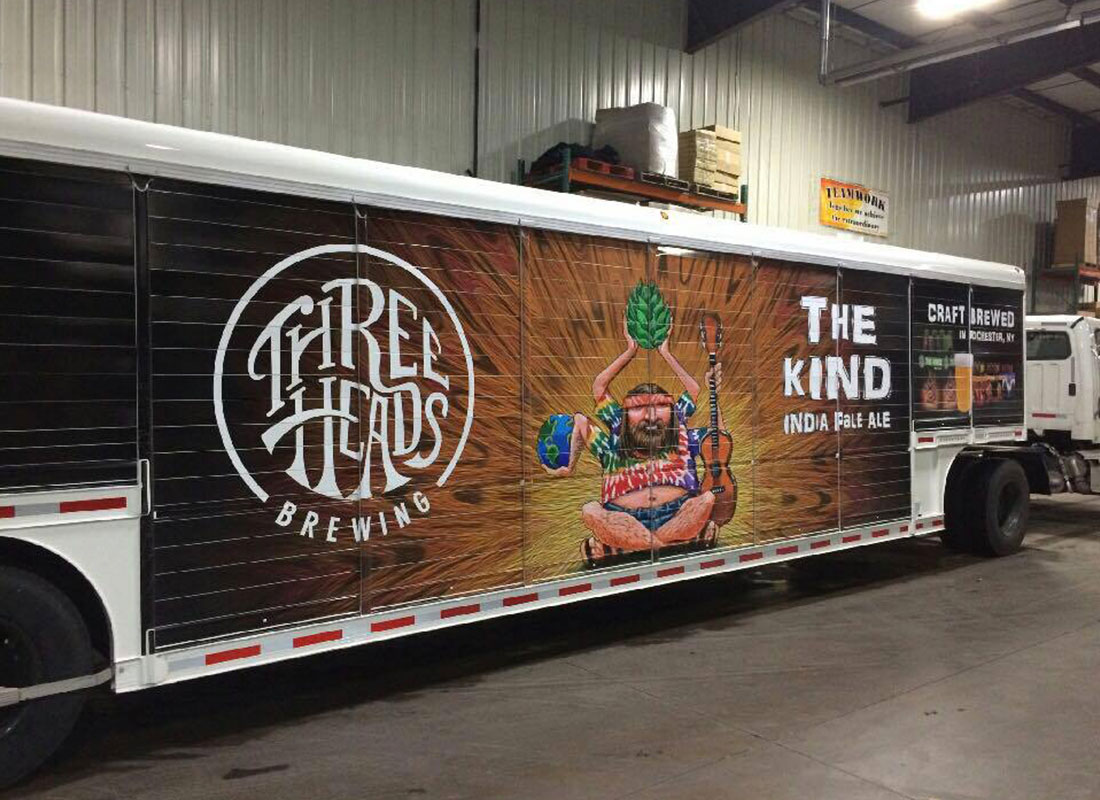 Three Heads Brewing - Truck Vinyl Wrap