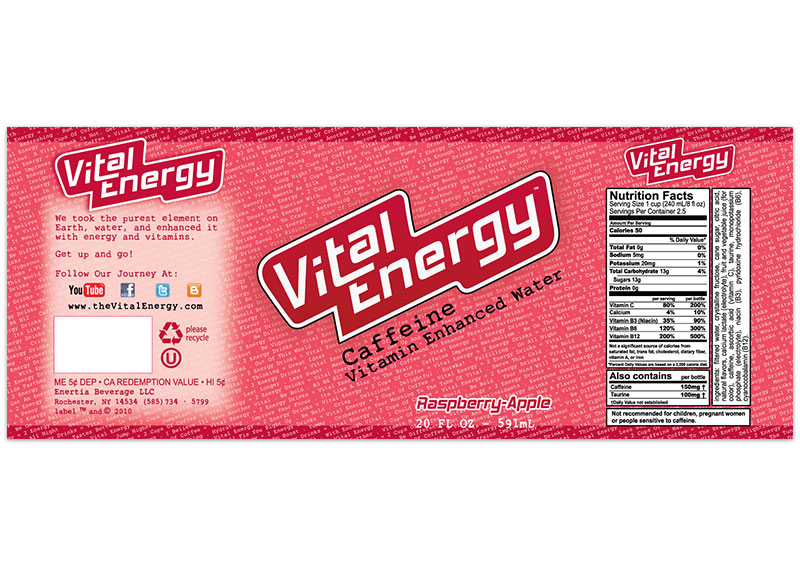 Vital Energy Label - Raspberry Apple
