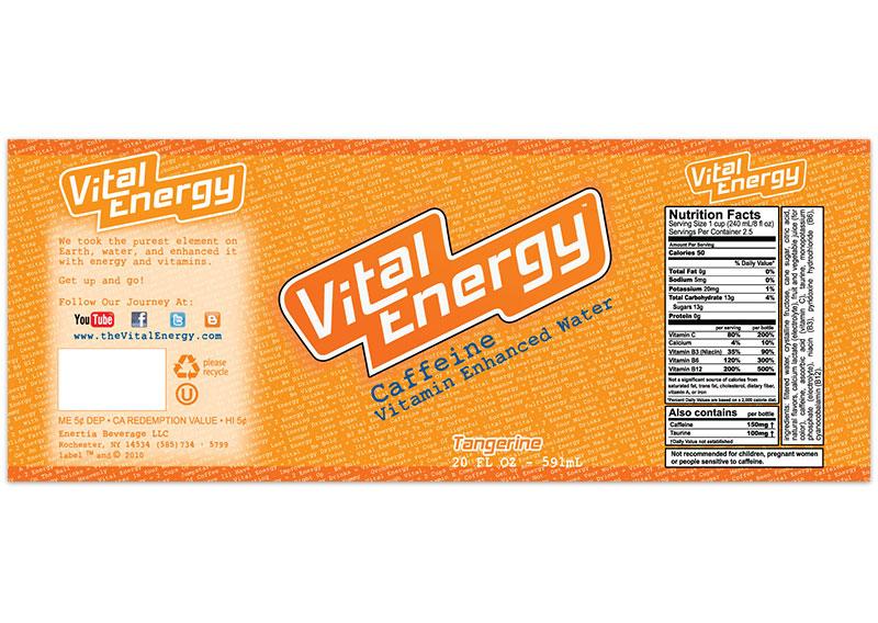 Vital Energy Label - Tangerine