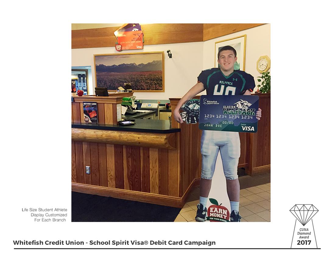 School Spirit Visa Debit Cards - Lobby Displays