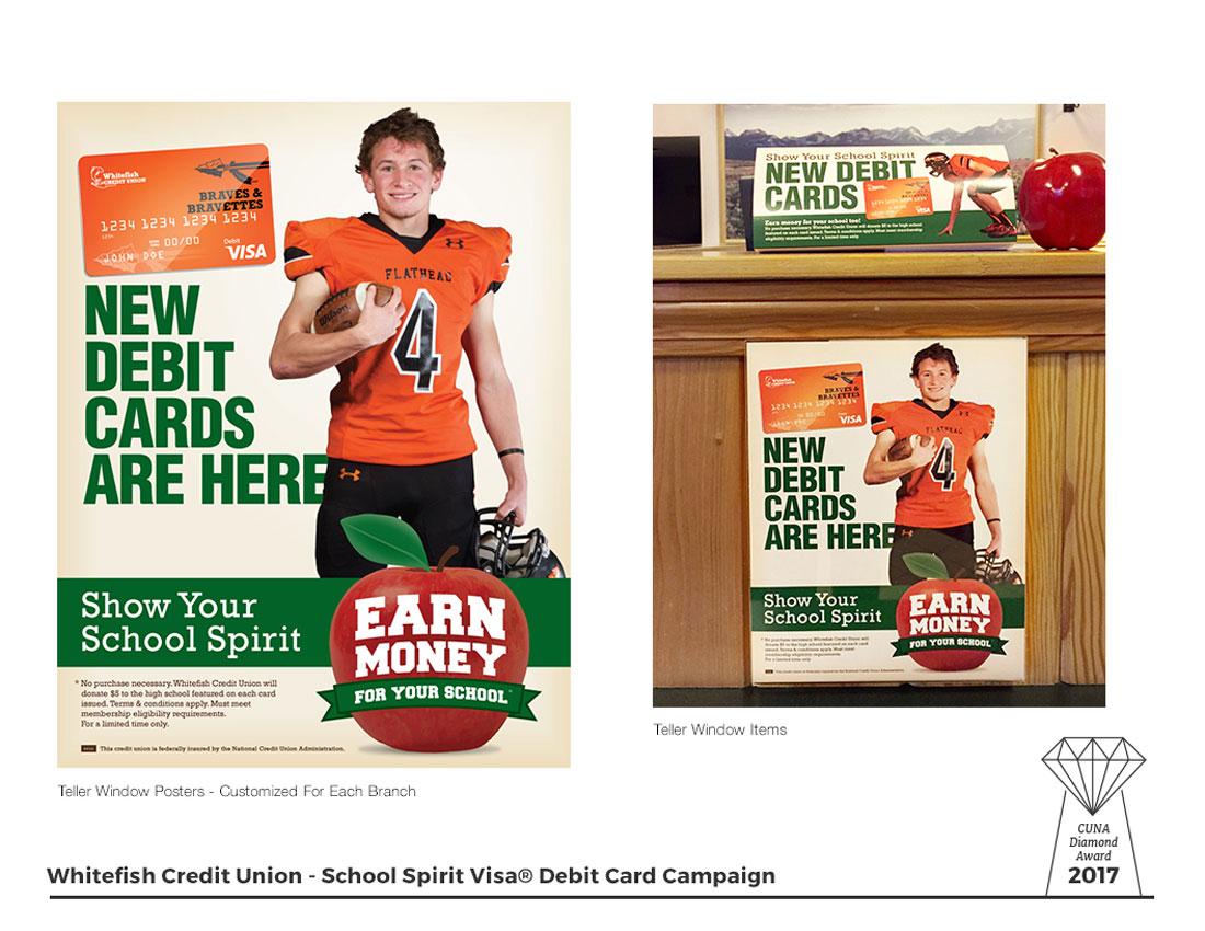 School Spirit Visa Debit Cards - Teller Posters
