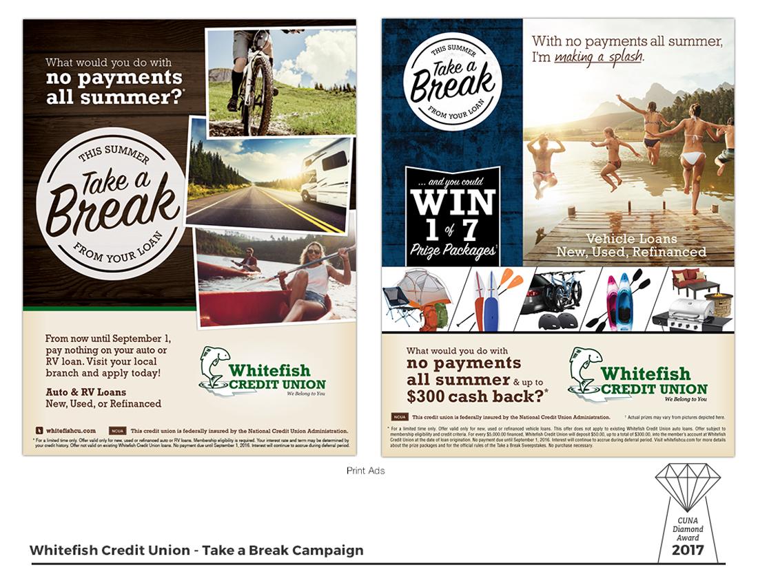 Take a Break - Print Ads