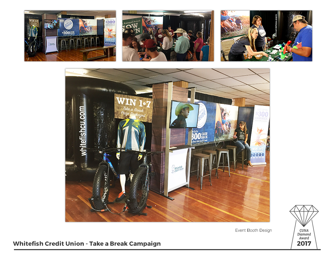 Take a Break - Booth Display @ Montana Fair and Rodeo