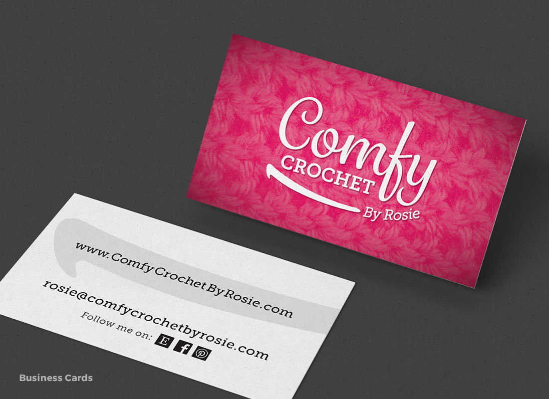 Comfy Crochet by Rosie - Business Cards