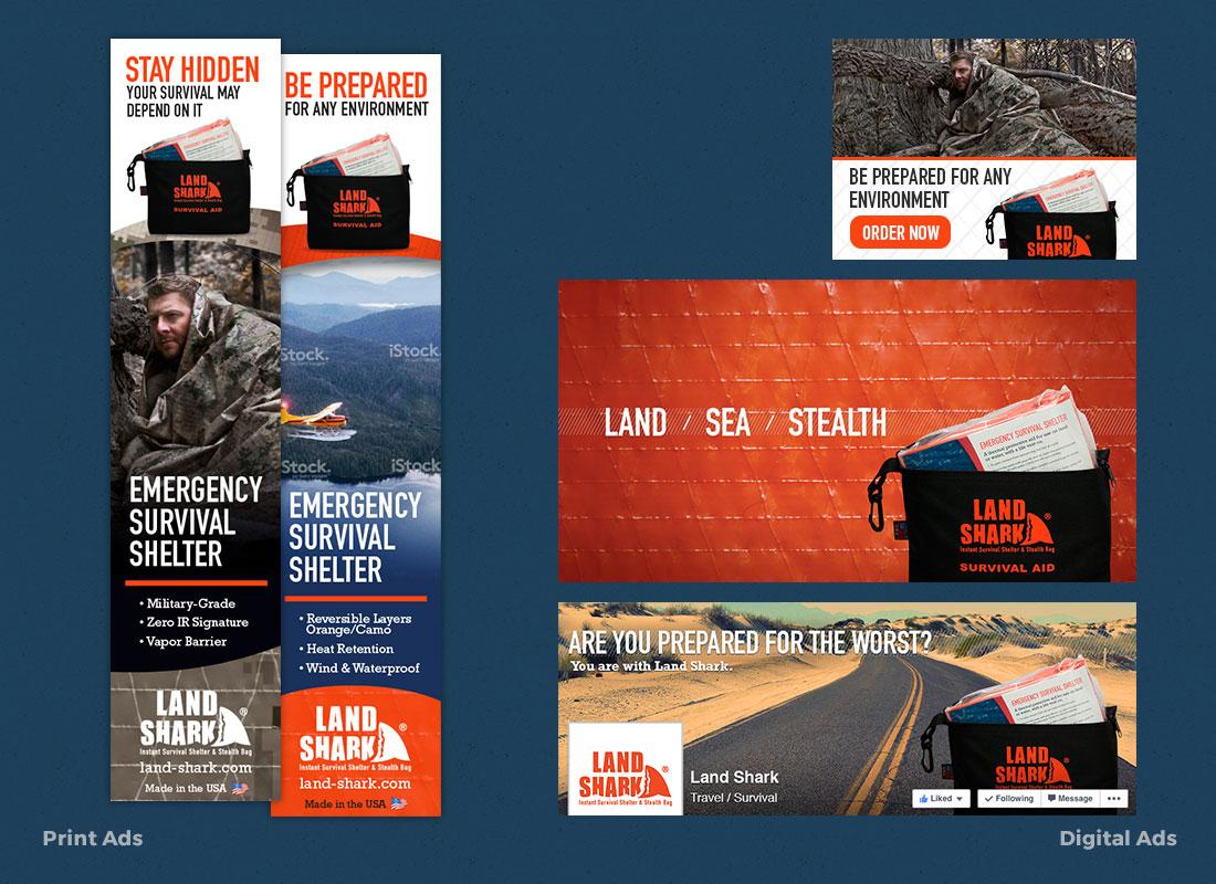Land Shark - Print & Digital Ads