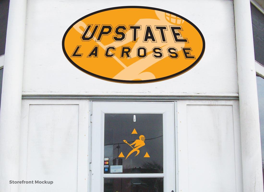 Upstate Lacrosse - Storefront Signage Mockup