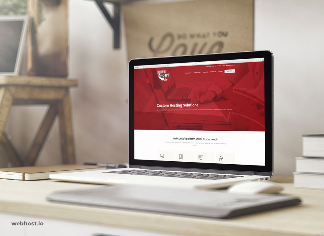 Webhost.io Website Design